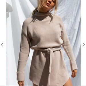 Sabo Skirt Tan Sweater Dress